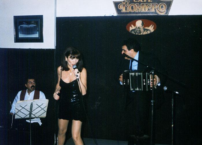 María JosMaría Jose Demare con Ruben Juarez y Jose Ogiviekie