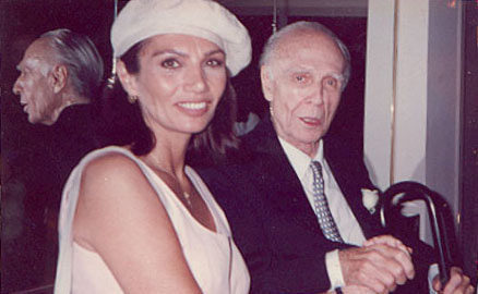 María Jose Demare con Adolfo Bioy Casares.