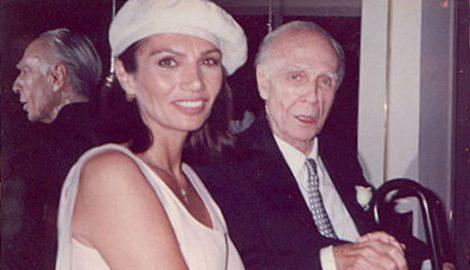 María Jose Demare con Adolfo Bioy Casares, Ruben Juarez y Jose Ogivieki.